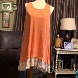 UMGEE Orange dress with lace bottom